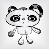 Cute panda doll Royalty Free Stock Photos