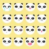 Cute panda emoji. Stock Images