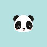 Cute panda face Stock Photography