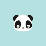 Cute panda face. Abstract cute panda face on a blue background royalty free illustration