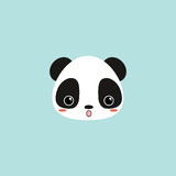 Cute panda face. Abstract cute panda face on a blue background vector illustration