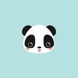 Cute panda face Stock Image