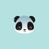 Cute panda face Stock Images