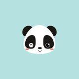 Cute panda face Royalty Free Stock Image