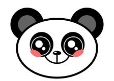 Cute Panda face kawaii face vector illustration design isolated. On white royalty free illustration