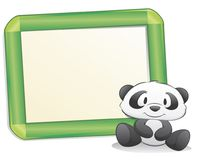 Cute Panda with Frame. Cute cartoon panda with frame for design element Royalty Free Stock Photo