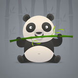 Cute panda gnaws bamboo Royalty Free Stock Photo
