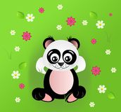 Cute panda in grass Stock Photo