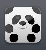 Cute panda icon Stock Photos