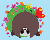 Cute panda. Illustration of a cute panda Royalty Free Stock Photos