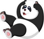 Cute panda. Illustration of cute baby panda cartoon Stock Images