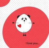 Cute panda in love Stock Image