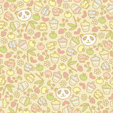 Cute panda seamless pattern. Stock Image
