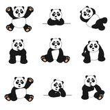 Cute Panda Set Royalty Free Stock Photography