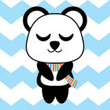 Cute panda sleep vector cartoon, Children postcard, nursery wall, and greeting card Royalty Free Stock Photography