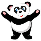 Cute panda smile of vector Stock Image