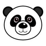 Cute Panda Vector. Cute animal faces in  (One of 25 of them Stock Images