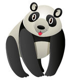 Cute panda on white background. Illustration Royalty Free Stock Photo