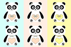 Cute Pandas. Royalty Free Stock Images
