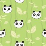 Cute pandas seamless pattern Royalty Free Stock Photos