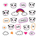 Cute pandas. Royalty Free Stock Photos