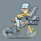 Cute Paper Boy Stock Image