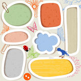 Cute paper frames Stock Image