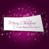 Cute paper Merry  Christmas message Stock Images
