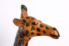 Cute Papier Mache Giraffe. A cute papier mache giraffe, head view in profile Royalty Free Stock Image