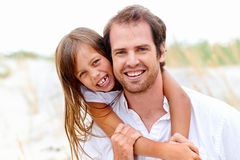 Cute parent and child Stock Image
