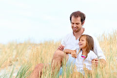 Cute parent and child Royalty Free Stock Photo