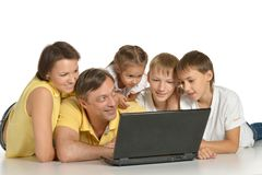 Cute parents and kids stock photography