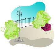 Cute park illustration Stock Photography