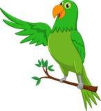 Cute parrot cartoon waving Royalty Free Stock Photo