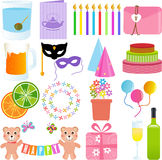 Cute Party Element in paste colors Royalty Free Stock Image