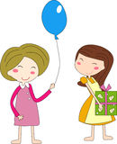 Cute party girls Royalty Free Stock Photography