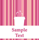 Cute party invitation in pink color Stock Photo