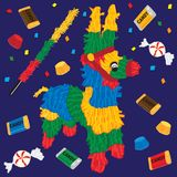 Cute Party Pinata stock illustration