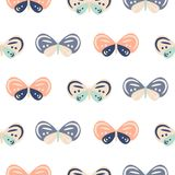 Cute pastel color butterfly cartoon baby seamless vector pattern. stock illustration