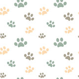 Cute pastel colored paw seamless pattern background illustration Stock Photo