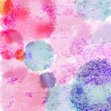 Cute Pastel Colored Watercolor Vector Imitation Stock Image