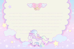 Cute pastel magical lovely unicorn Stock Image