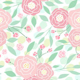 Cute pastel peony flowers on white. stock illustration