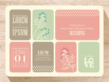 Cute pastel wedding invitation card background Royalty Free Stock Photo