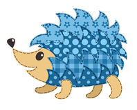Cute patchwork hedgehog Royalty Free Stock Images