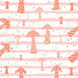 Cute Pattern with arrows Stock Photos
