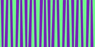 Cute pattern banner with green and violet vertical stripes. Vintage retro stripes design. Creative vertical banner. Vector illustration for design, banner Stock Photography
