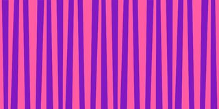 Cute pattern banner with pink and violet vertical stripes. Vintage retro stripes design. Creative vertical banner. Vector illustration for design, banner, card Royalty Free Stock Photos