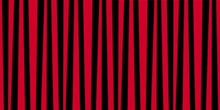 Cute pattern banner with red and black vertical stripes. Vintage retro stripes design. Creative vertical banner. Vector illustration for design, banner, card Stock Photography
