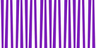 Cute pattern banner with violet and white vertical stripes. Vintage retro stripes design. Creative vertical banner. Vector illustration for design, banner Royalty Free Stock Images